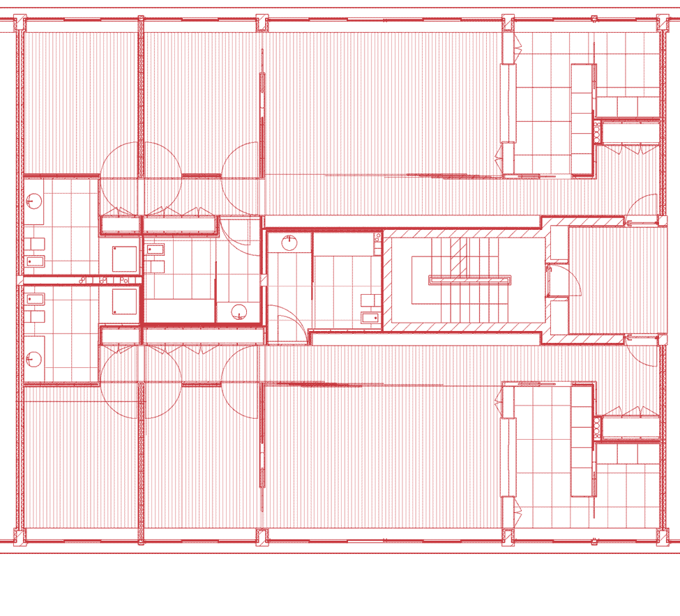 A floorplan of the Collective Housing