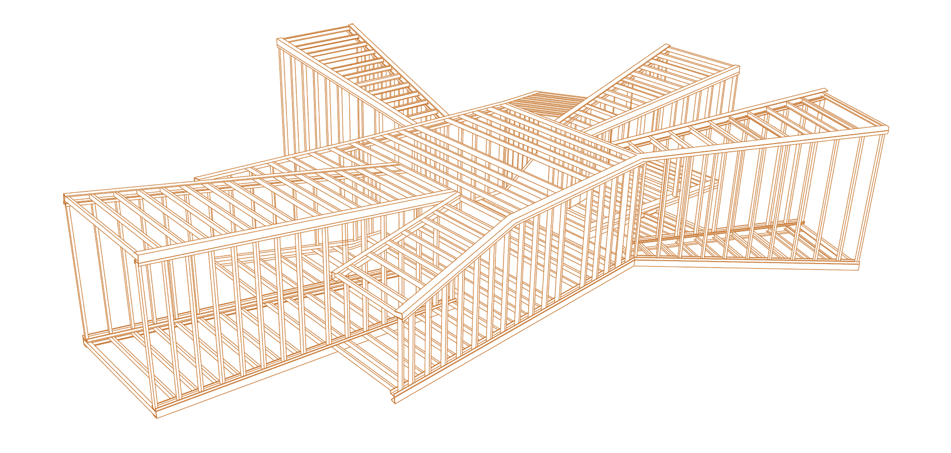 A computer render of the structure of the Shelter for Pilgrims